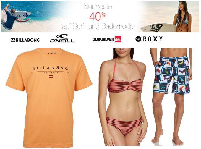 Surf  und Bademode nur heute 40% reduziert bei Amazon