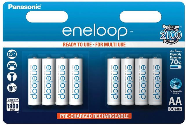 eneloop Amazon Angebot  Panasonic   Eneloop Akkus   8 x AA inkl. Akkubox für 14,99€
