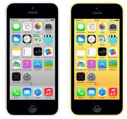 iPhone 5c 8GB in Weiß oder Gelb für je 299,95€ (statt 328€)