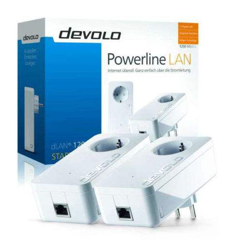 12 Devolo dLAN 1200+ Starter Kit Set Powerline + Kaspersky Internet Security 2016 für 99€ (statt 128€)