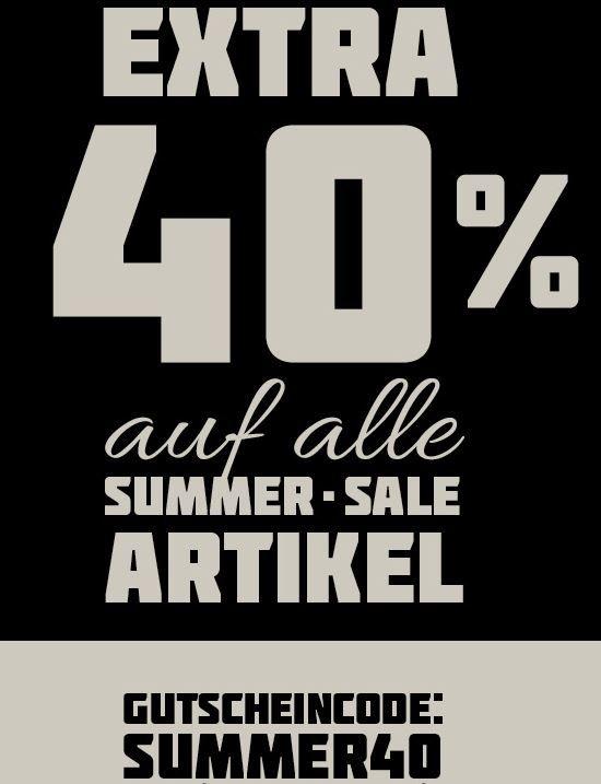 40 Prozent Rabatt