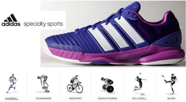 Nur heute! adidas Specialty Sports Sale mit 50% Rabatt + 25% Extra Rabatt