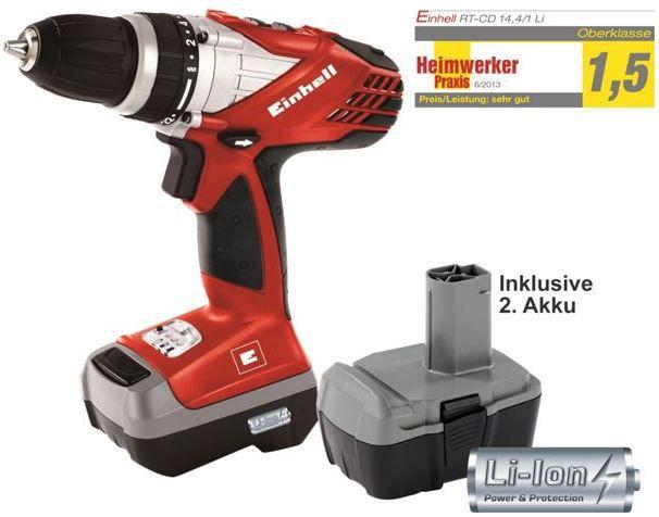 Akku Bohrschrauber Einhell RT CD 14,4/1 Li Akku Bohrschrauber mit 2 Akkus + Koffer für 79,95€   dank 10% (10€) Plus.de Rabatt auf alles   Update