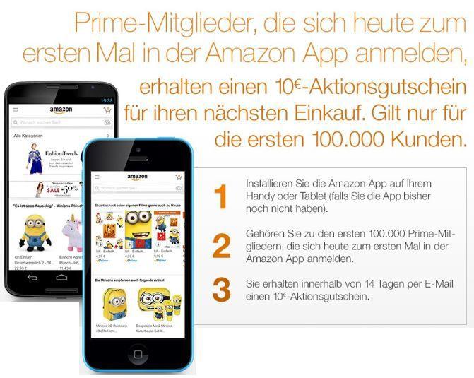 Amazon App anmelden und 10€ Aktionsgutschein als Primer kassieren   1 kostenloses Buch für Primer ....