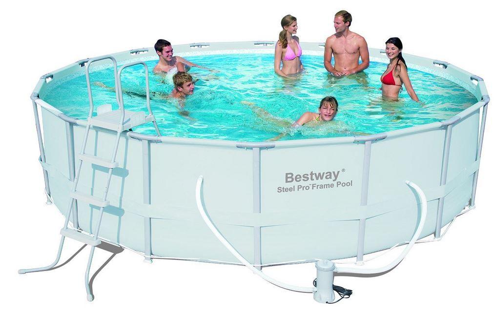 Bestway Power Steel   Frame Pool 488 x 122cm mit Filterpumpe und Zubehör statt 439€ für 339,99€