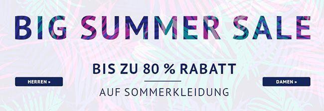Big Summer Sale mit bis zu 80% Rabatt + 10€ Gutschein (MBW 50€)   Update