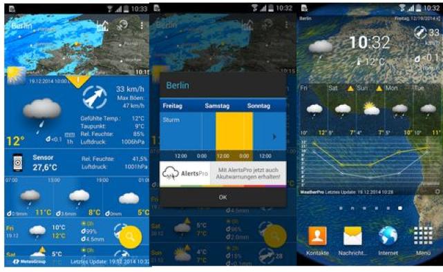 Weather Pro für Smartphones und Tablets mit Android   0,10€