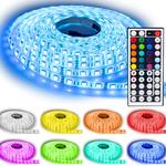 NINETEC – 5m LED SMD flexible Lichtleiste, In und Outdoor + Fernbedienungstatt 25€ für 19,99€