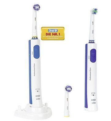 Braun Oral B Professional Care 650 Zahnbürste + 2. Handteil für 34,95€ (statt 42€)