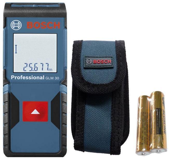 Bosch Professional Laser Entfernungsmesser GLM 30 Bosch GLM 30 Professional Entfernungsmesser + 100€ adidas Gutschein für 119,90€