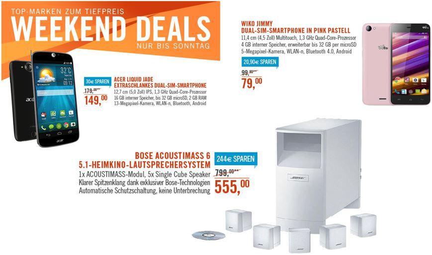 BOSE Acoustimass 6 Home Cinema Speaker System statt 799€ für 555€ bei den Cyberport Weekend Deals   HOT!