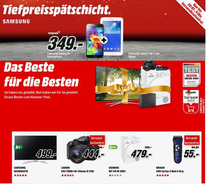Samsung UE50H6270 50 Zoll TV für 499€   in den MediaMarkt Aktionen