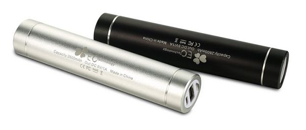 EC Technology Powerbank mit 2.600mAh und integrierter Taschenlampe in Pink ab 2,99€   Update