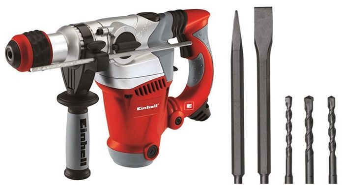Einhell RT RH 32 Bohrhammer im Koffer + 3 Bohrer + 2 Meißel für 75€ (statt 90€)