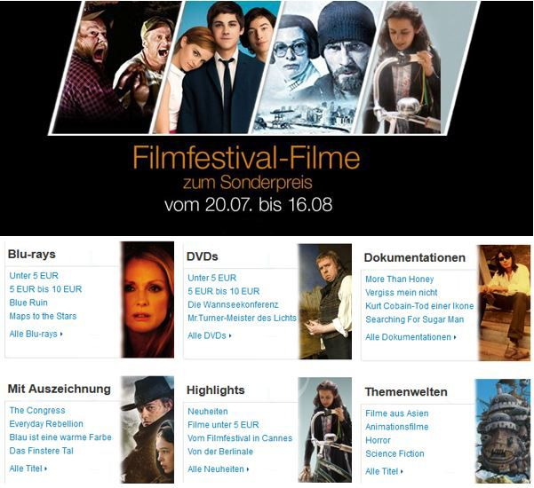 Filmfestival Filme zum Sonderpreis   bei den Amazon DVD und Blu ray Angeboten