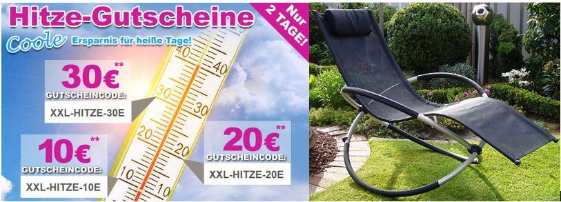 Garten XXL LECO Schaukelstuhl für 78,95   dank verschiedener GartenXXL Gutscheine   Update!