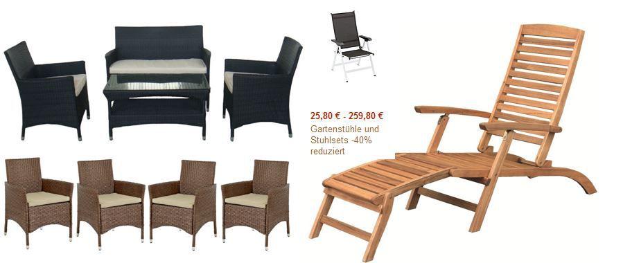Brema Akazie Deckchair France statt 85€ für 41,31€   in der Gartenstühle und Stuhlsets  40% Aktion heute @ Amazon   Update