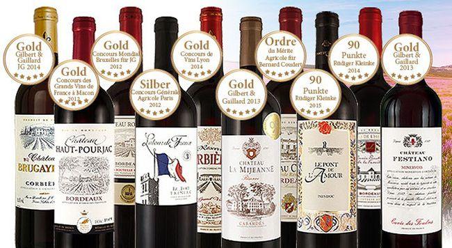10 Flaschen Rotwein im Grande Nation Probierpaket für 49,90€