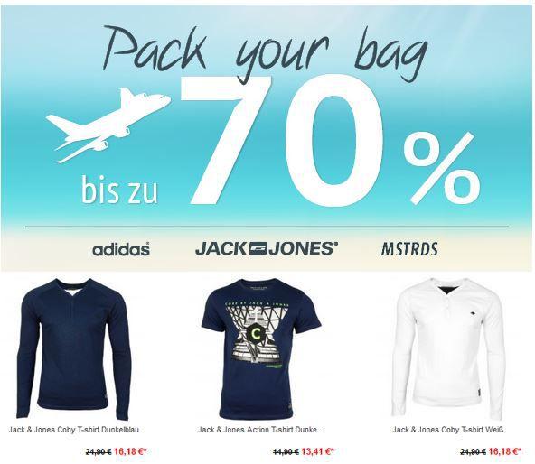 Adidas, Jack & Jones und MasterDis mit bis zu 70% Rabatt @ Hoodboyz   Jack und Jones CORE T Shirts ab 13,41€