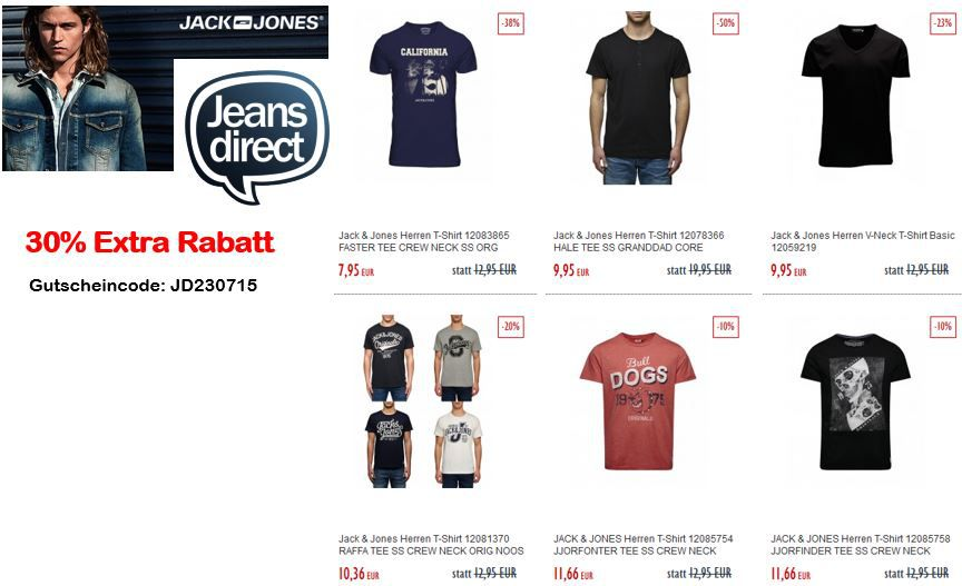 Jack & Jones Rabatt Aktion