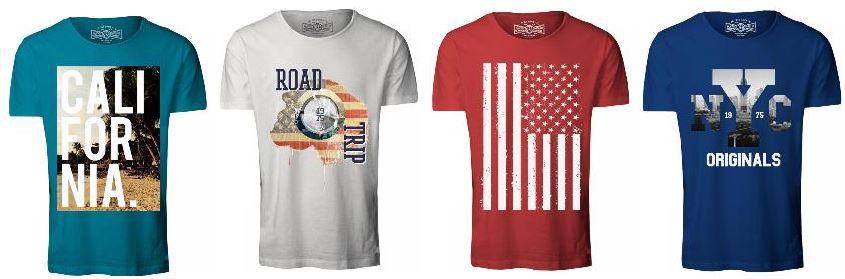 Jack & Jones Herren Motiv T Shirts als 2er Set für 12,95€ im 4er Pack für 26,85€