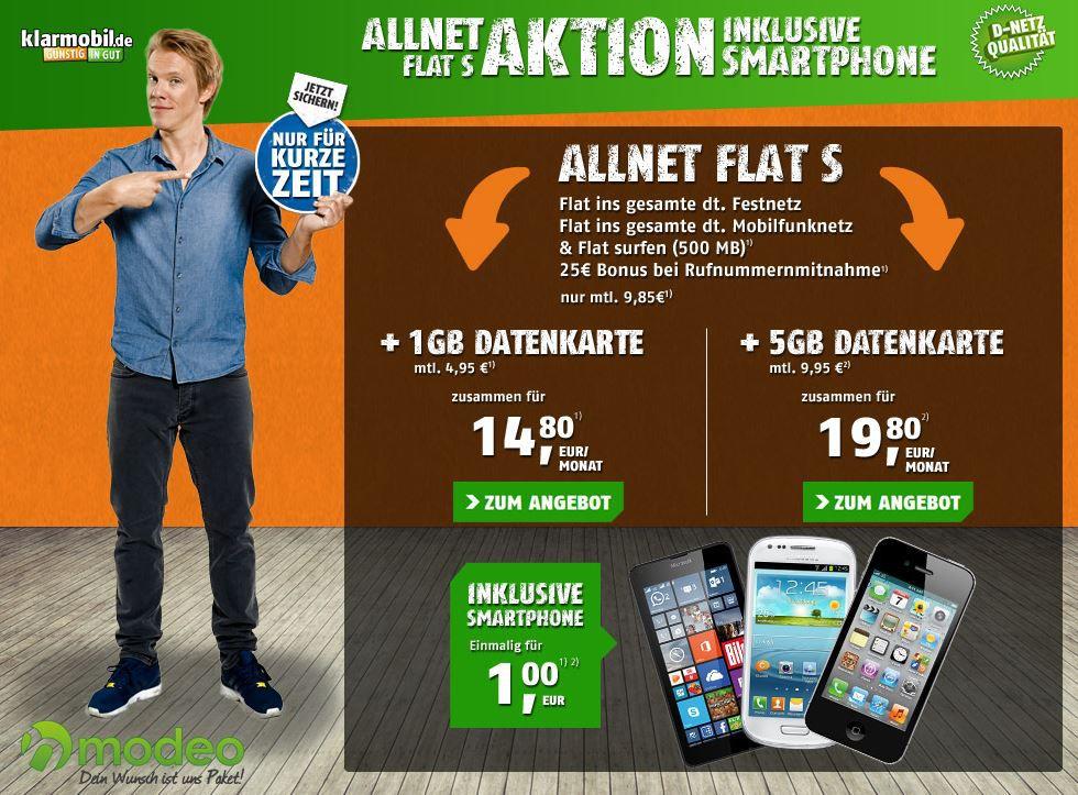 Vodafone Allnet Flat inkl. 1,5GB Daten ab 14,80€ mtl. + z.B. mit Lumia 640 Dual Sim Smartphone
