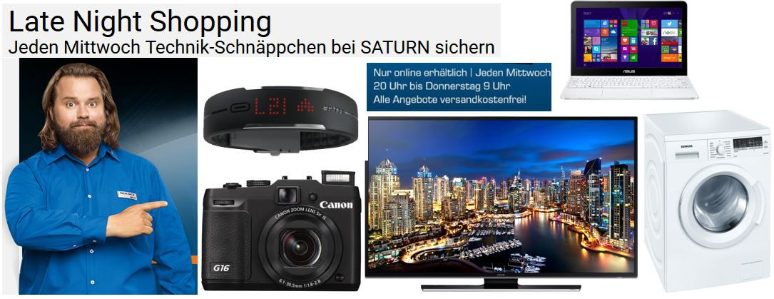 Late Night Saturn Angebote POLAR Loop Activity Tracker ab 60€   Samsung 40 Zoll UHD 4K TV ab 454€ im Saturn Late Night Shopping