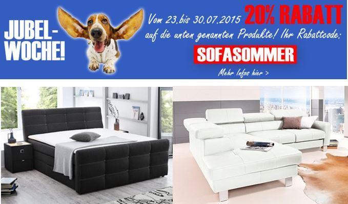 Neckermann mit 20% Rabatt auf Sofas & Wohnlandschaften + VSK frei ab 75€   Update