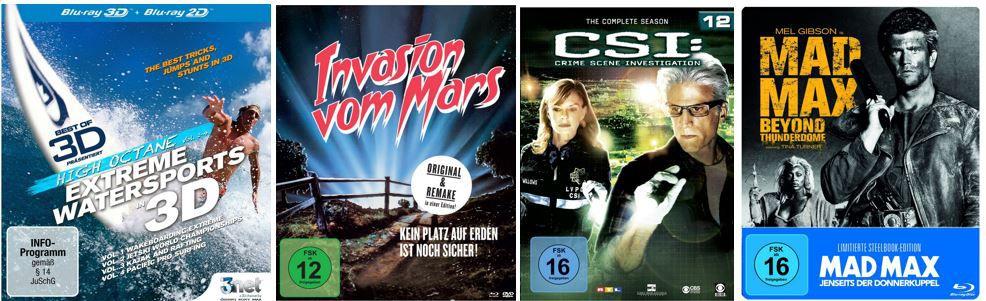 Mad Max CSI: Crime Scene Investigation Staffeln ab 15,97€ bei den Amazon DVD und Blu ray Angeboten der Woche