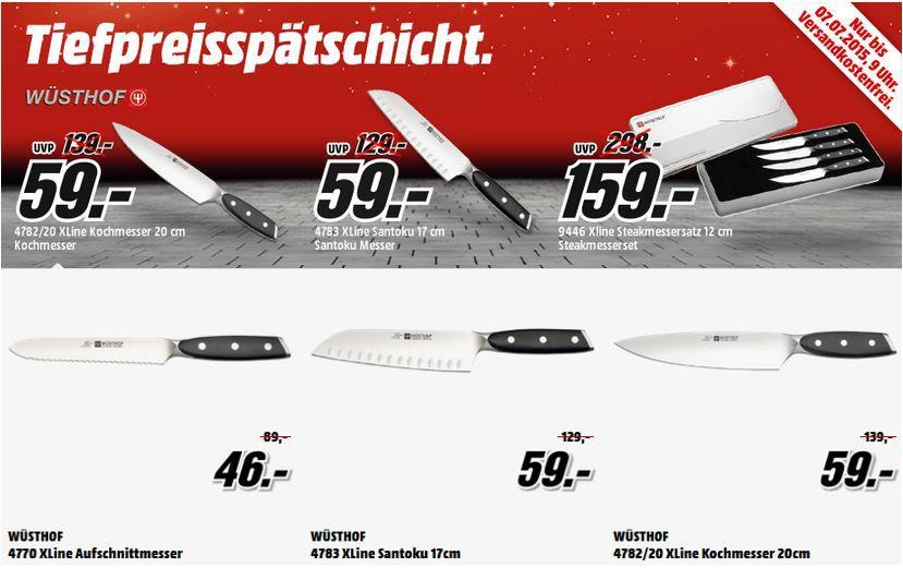 Wüsthof XLINE Santoku Messer statt 79€ für 59€ in der MediaMarkt Tiefpreisspätschicht