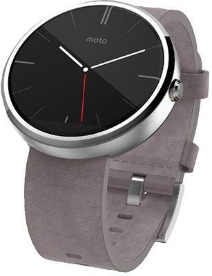 Motorola Moto 3601 Motorola Moto 360 Smartwatch mit grauem Lederarmband für 154,38€ (statt 185€)