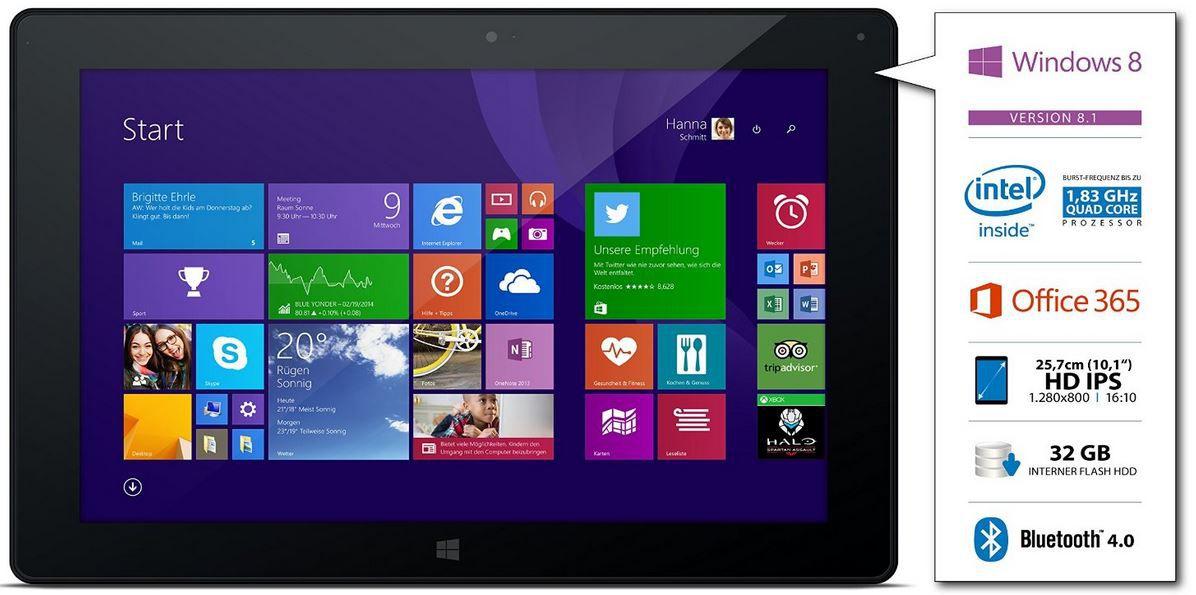 Odys Wintab 10   10 Zoll Tablet mit Tastatur als WHD für 152,30€