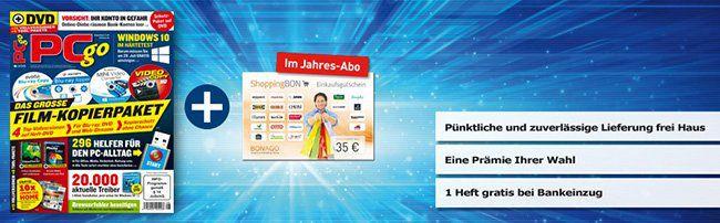 PCgo Jahresabo für 64,80€ + 45€ ShopingBon