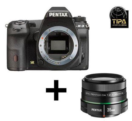 Pentax K 3 Pentax K 3   24MP SLR Digicam mit 35mm Objektiv für nur 705,44€