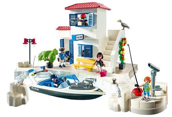 Playmobil 5128 Hafenpolizei mit Schnellboot für 15€