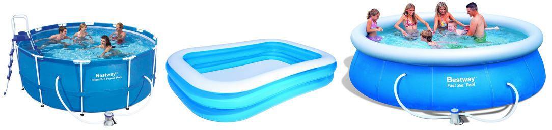 Bestway 54006 Planschbecken Blue Rectangular Family Pool  für 16,11€   bei den 40 Amazon Pool Blitzangeboten ab 18Uhr