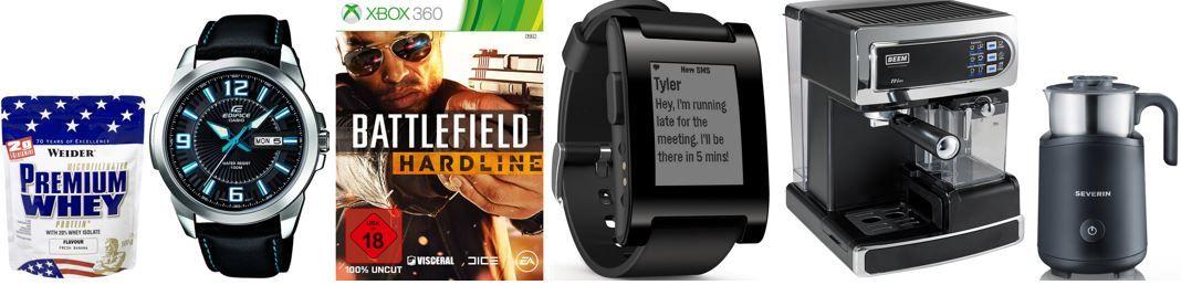 Pebble Smartwatch für iPhone und Android für 99€   bei den ersten Amazon Prime Day Angeboten: von Mitternacht bis 06Uhr