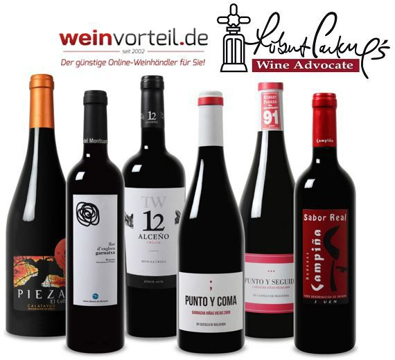 Robert Parker Wein Probierpaket   6 Fl. spanischer Rotwein mit mindestens 90 RP Punkten für nur 39,99€   Update