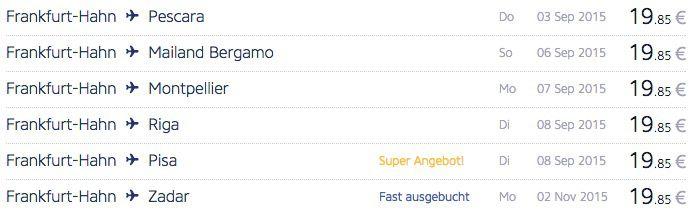 Ryanair Angebote 1 Million Ryanair Flüge für 19,85€ zum 30. Geburtstags Jubiläum   Reisezeitraum 1.9.15 bis 31.1.16