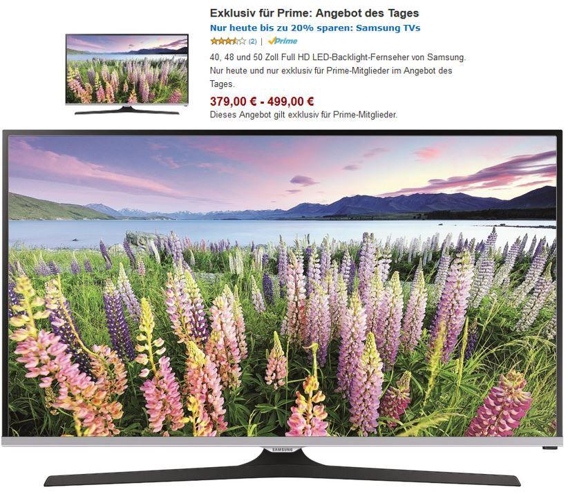 Samsung UE J5150 Serie   TVs von 40 50 Zoll ab 379€ für Prime Mitglieder