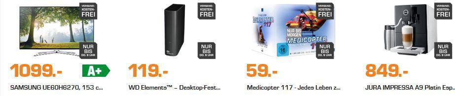 JURA IMPRESSA A9 Platin Espresso Kaffee Vollautomat ab 844€ und mehr Saturn Late Night Shopping Angebote