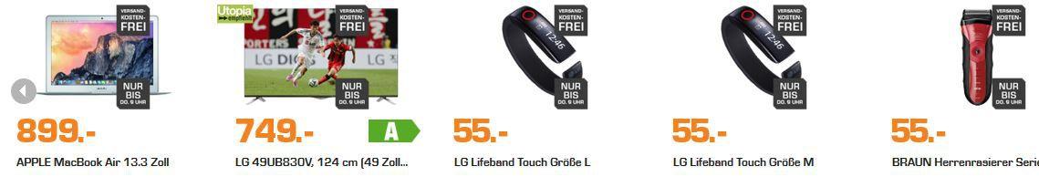 LG Lifeband Touch Größe M oder L ab 50€ und mehr Saturn Late Night Shopping Angebote   Update