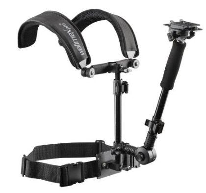 Walimex Pro Video Schulterstativ für 40,27€   Auslegearm, Schnellwechselplatte, Bauchgurt, Follow Fokus Ring