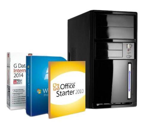 Shinobee J1900R1 W7P Office PC für 169,99€   2,4 GHz, 4GB Ram, 500GB, Win 7 Pro