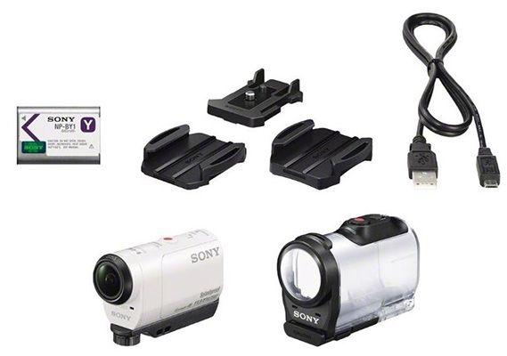 Sony HDR AZ1 Sony HDR AZ1 Actioncam mit WLAN, NFC und Unterwassergehäuse für 146€ (statt 194€)