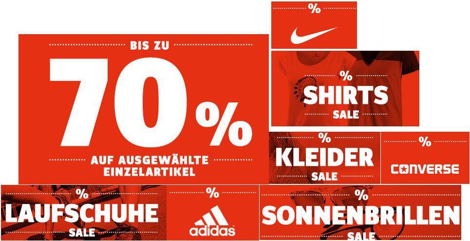Sport Scheck mit bis zu 70% Rabatt auf ausgewählte Artikel und mehr Aktionen   z.B. Billabong Visage Shorts für 19,95€ ohne VSK