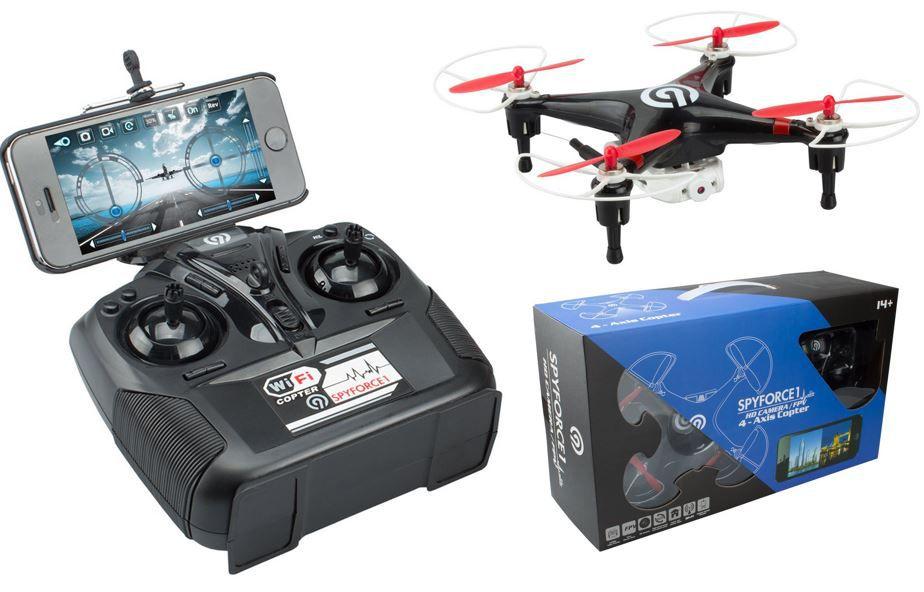 NINETEC Spyforce1   Kameradrohne mit Live Übertragung auf das Smartphone für 44,44€