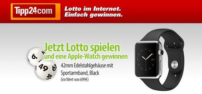 Tipp24: 2 Lotto Felder 6 aus 49 spielen, nur eins zahlen und mit Glück eine Apple Watch gewinnen   Update!