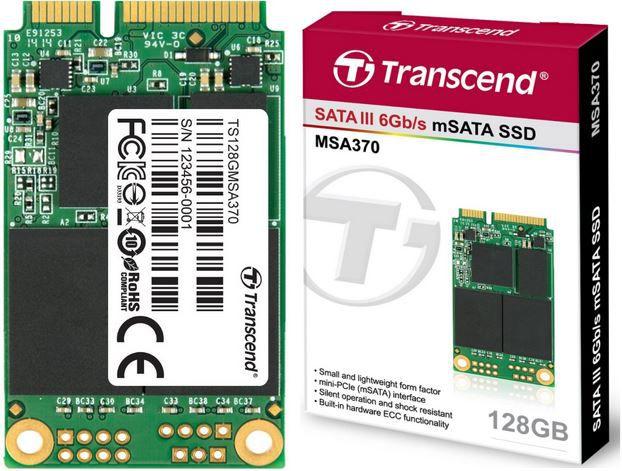 Transcend MSA370 Transcend MSA370 interne mSATA SSD 128GB für 59,90€