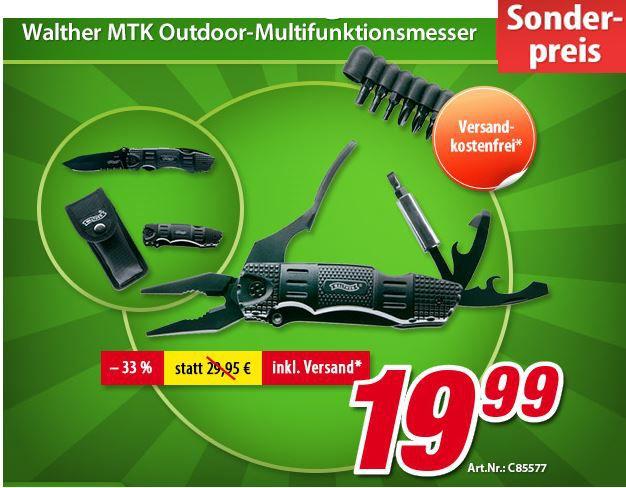 Walther MTK Multifuktionsmesser für 19,99€   Update